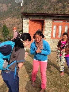 村の方々に温かく出迎えて頂きました。