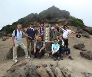 安達太良山の山頂点前(佐久間さん提供)